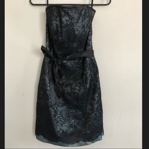 Black and Teal Jessica McClintock homecoming dress